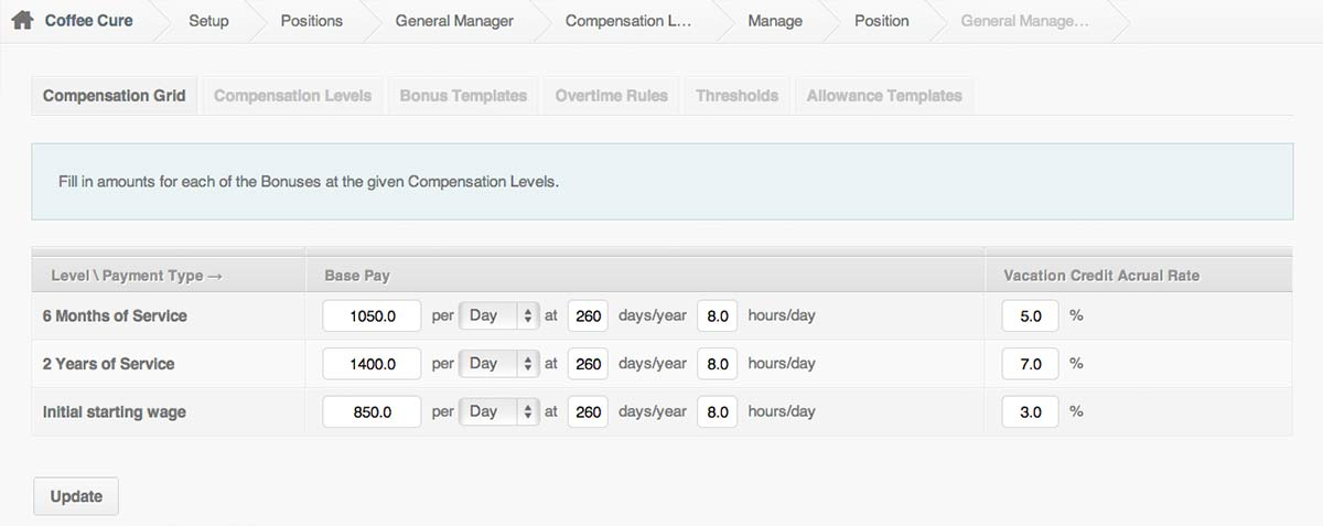 Compensation with PayrollHero